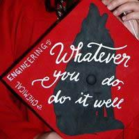 Graduation cap with inscription